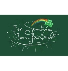 sending you a rainbow vector image vector image