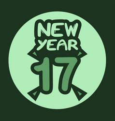 2017 new year symbol vector image