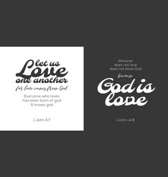 god is love verse from bible vector image vector image