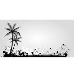 grunge palm 1 vector image