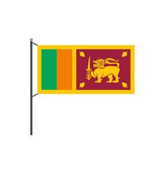 sri lanka flag icon flat style vector image