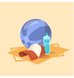 ball cap icon summer sea vacation concept vector image vector image
