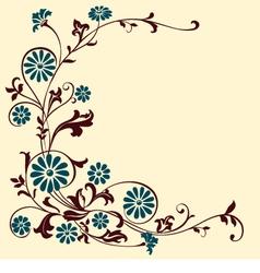floral motif vector image
