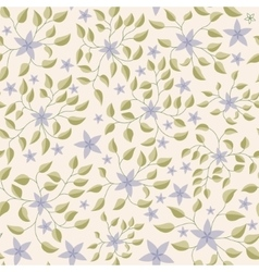 Little flowers with leaves pattern vintage vector image
