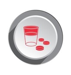 Pill drug icon Health medicine symbol Tablet vector image vector image