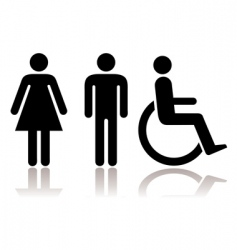 toilet symbols disabled vector image