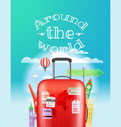 vacation travelling concept travel with the bag vector image