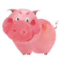 watercolor pig vector image