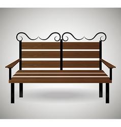Wooden chair design vector image