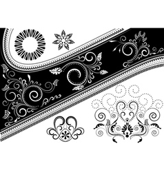 Canvas with pattern and details for design vector image vector image