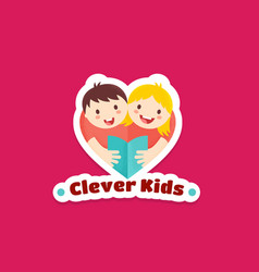 clever kids abstract sign emblem or logo vector image vector image