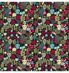 Cute skulls seamless pattern vector image vector image