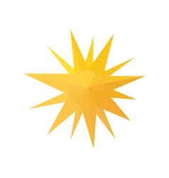 origami sun isolated on white background vector image