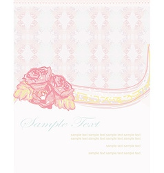 romantic flower abstract background invitation vector image vector image