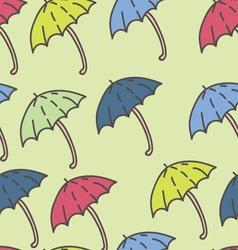 Summer Rain Umbrella Pattern vector image vector image