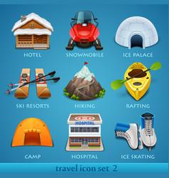 Travel icon set-2 vector