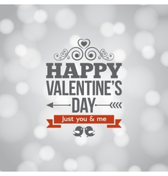 valentines day silver lights vintage background vector image vector image