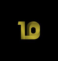 10 years anniversary celebration gradient gold vector