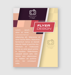 Abstract business flyer template brochure vector