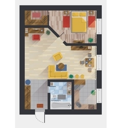Apartment or flat house floor plan top view vector