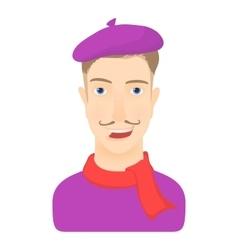Artist icon cartoon style vector