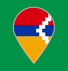 Artsakh nagorno karabakh republic flag icon travel vector