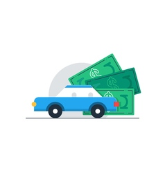 Auto car expenses vehicle tax payment vector