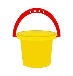 Baby bucket vector image