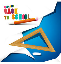 Back to school design with pencil ruler and paper vector
