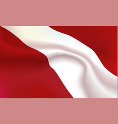 background austrian flag in folds tricolour vector image