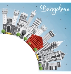 Bangalore Skyline with Gray Buildings vector image