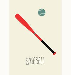 Baseball vintage minimalistic style poster vector