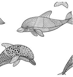 beautifulseamless pattern monochrome black vector image