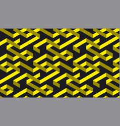 Black and yellow geometric stripe pattern vector