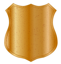 Blank metal shield vector