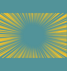 blue yellow pop art background light from the vector image