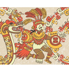 Bright background in the Aztec style vector image