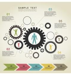 Business gear wheel2 vector