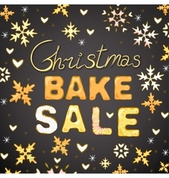 Christmas Bake Sale 01 A vector image vector image
