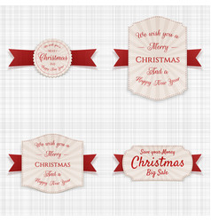 christmas realistic labels set vector image