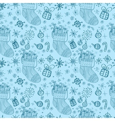 christmas seamless socks vector image