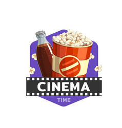 cinema food movie snacks bistro or popcorn bar vector image