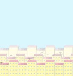 City and sunny day vector image vector image