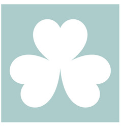 clover the white color icon vector image