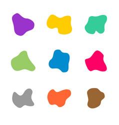 colored spots different curve shapes set fluid vector image