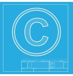 Copyright sign White section of icon vector