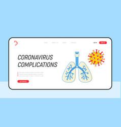 coronavirus medical website landing page human vector image