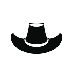 Cowboy hat black icon vector