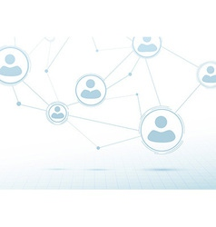 Creative networking concept - social connections vector image