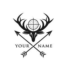 deer hunter logo vector image